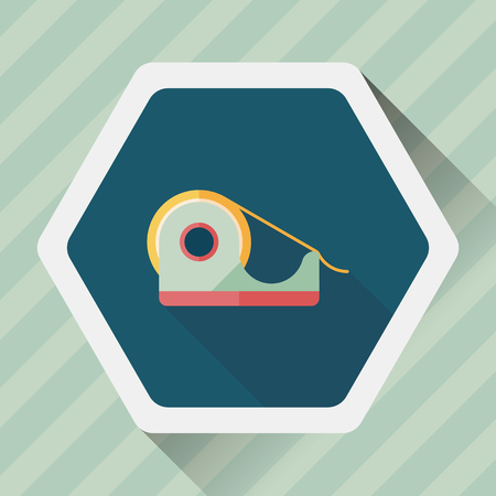 adhesive tape: adhesive tape flat icon with long shadow,eps10