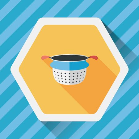 housewares: kitchenware water filters flat icon with long shadow,eps10 Illustration