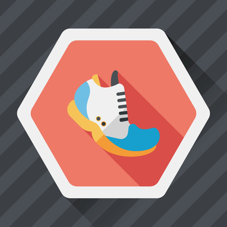 sneaker: sneaker flat icon with long shadow,eps10