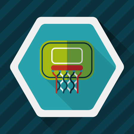 Basketball flat icon with long shadow,eps10 Vetores