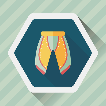 cycling shorts flat icon with long shadow,esp10 Illustration
