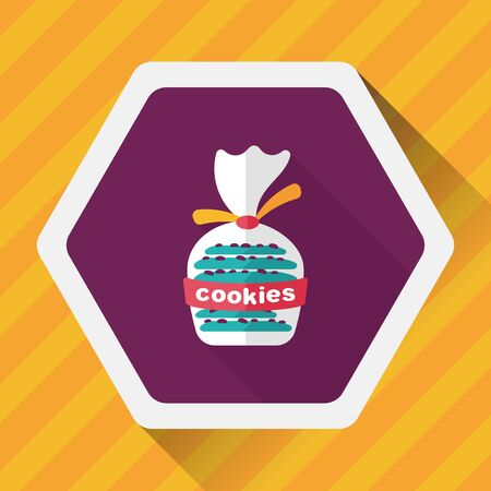 crumb: cookies flat icon with long shadow,eps10 Illustration