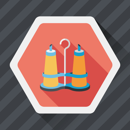 sauce: kitchenware sauce bottle flat icon with long shadow,eps10