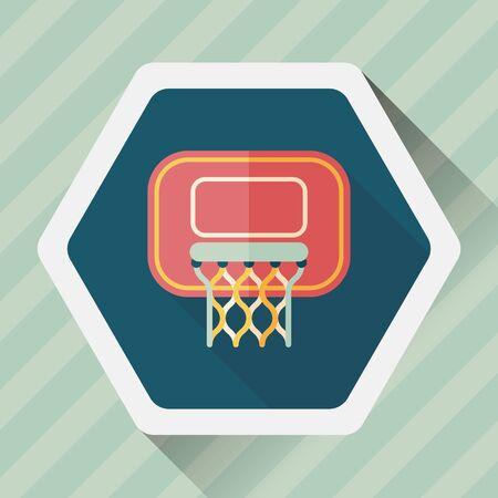 bal: Basketball flat icon with long shadow,eps10