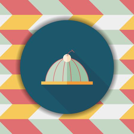 gelatin: sweet jelly flat icon with long shadow,eps10 Illustration