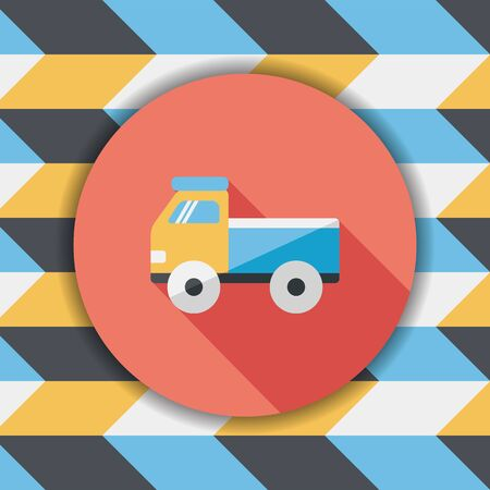 glyphs: Truck flat icon with long shadow,eps10
