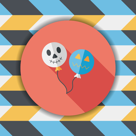 ballooning: Halloween balloons flat icon with long shadow,eps10 Illustration