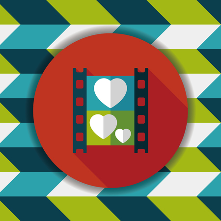 videographer: wedding film flat icon with long shadow,eps10