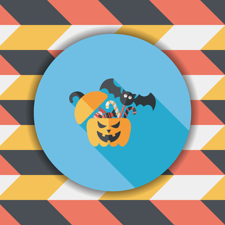 candy box: halloween, gift, box, greeting, decoration, autumn, holiday, jack, head, festive, celebration,  jack-o-lantern, illustration, october, lantern, treat, trick, surprise, container, party, pumpkin, present, happy, flat, icon, candy, children, happiness, loll