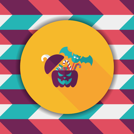 jack in the box: halloween, gift, box, greeting, decoration, autumn, holiday, jack, head, festive, celebration,  jack-o-lantern, illustration, october, lantern, treat, trick, surprise, container, party, pumpkin, present, happy, flat, icon, candy, children, happiness, loll