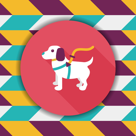 dogie: Pet dog flat icon with long shadow,eps10