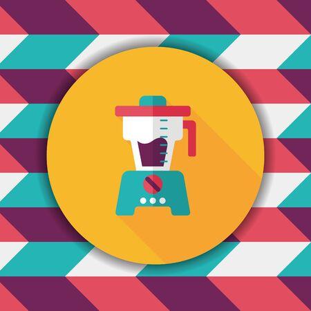 kitchenware juicer flat icon with long shadow,eps10 Illustration