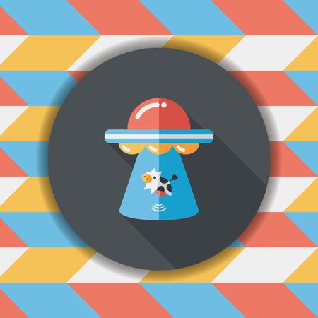 공간이 긴 UFO 평면 아이콘, eps10