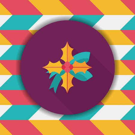 poinsettia: poinsettia flat icon with long shadow, eps10 Illustration