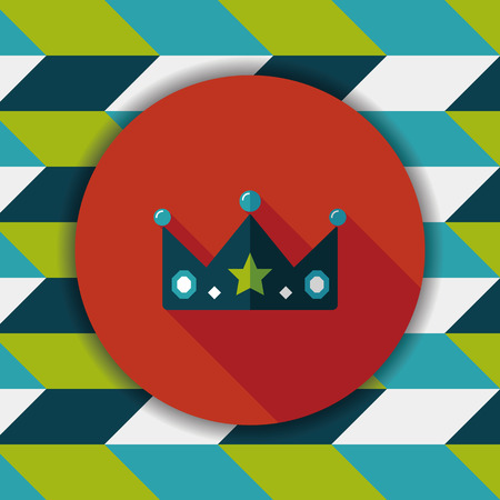 monarchy: crown flat icon with long shadow,eps10 Illustration