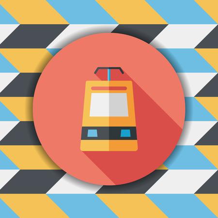 snelheidstrein vlakke icoon met lange schaduw Vector Illustratie