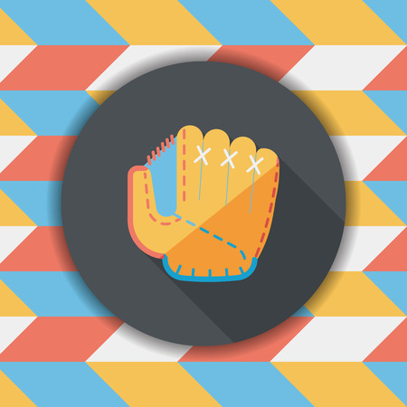 pincher: baseball glove flat icon with long shadow,eps10