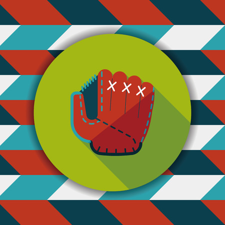squat: baseball glove flat icon with long shadow,eps10