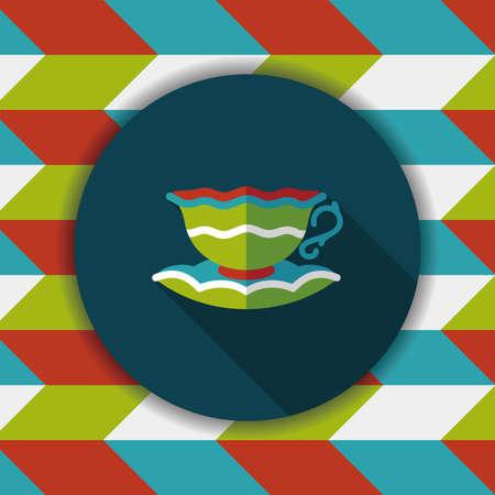 lliquid: coffee cup flat icon with long shadow,eps10 Illustration