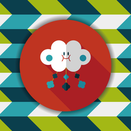 cloud shape: Baby crib hanging toy flat icon with long shadow,EPS 10 Illustration