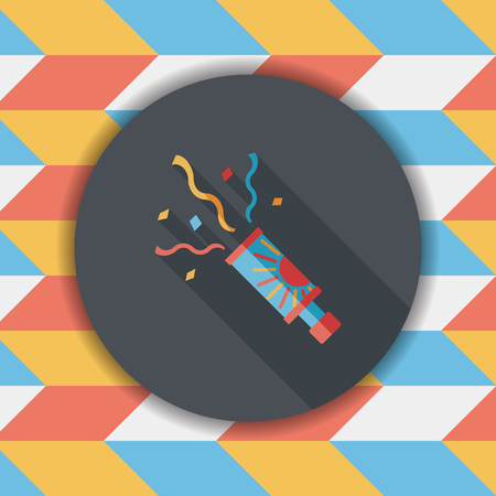 descriptive: confetti flat icon with long shadow,eps10