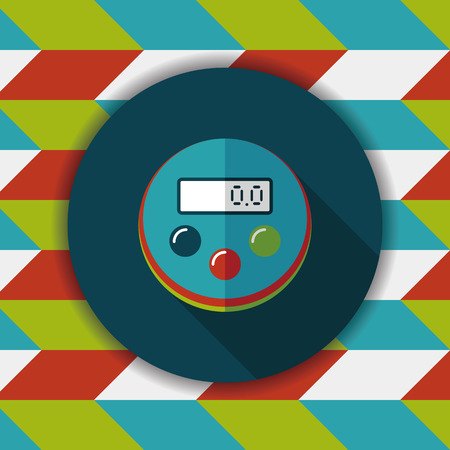 estimation: kitchenware timer flat icon with long shadow,eps10