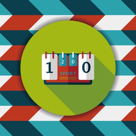 scoreboard flat icon with long shadow,eps10