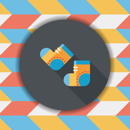 long socks: socks flat icon with long shadow,EPS 10 Illustration