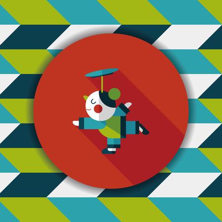 acrobatics: A�o Nuevo Chino Acrobacia icono plana chica con larga sombra, eps10 Vectores