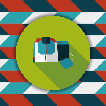 coffee bag: coffee bag flat icon with long shadow,eps10 Illustration