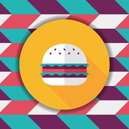 sub menu: sandwich flat icon with long shadow,eps10