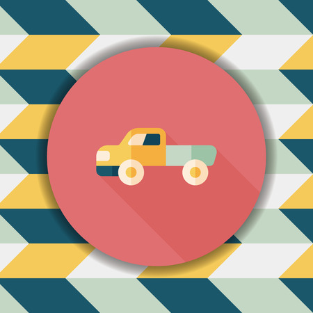 moving truck: Transportation moving truck flat icon with long shadow,eps10 Illustration