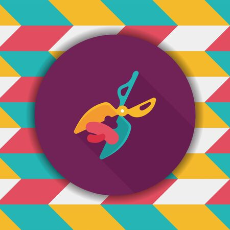 cutouts: Pet scissors flat icon with long shadow,eps10 Illustration