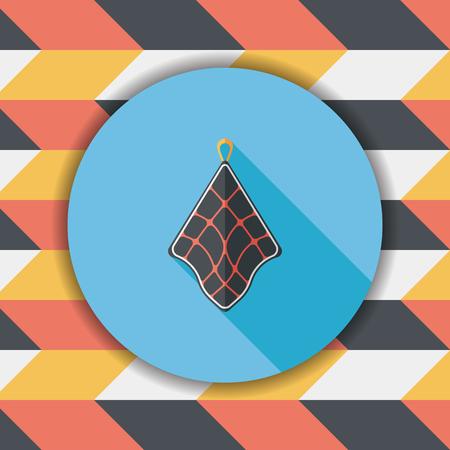 rag: kitchenware rag flat icon with long shadow,eps10