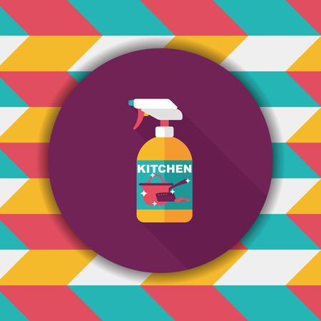 foaming: kitchenware bottle soap flat icon with long shadow,eps10
