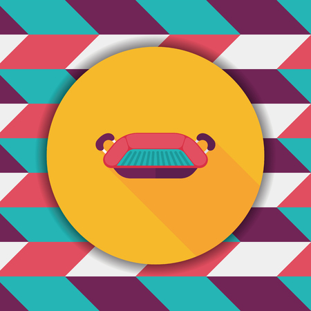 bakeware: bakeware flat icon with long shadow,eps10 Illustration