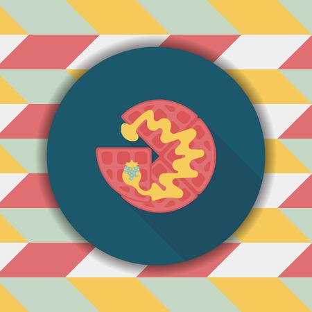 pancake: pancake flat icon with long shadow,eps10