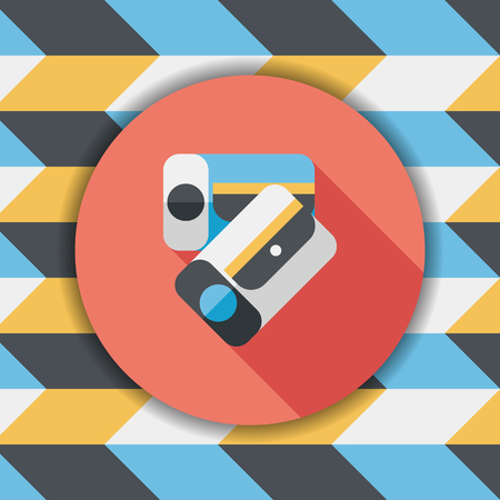 pencil sharpener: Pencil sharpener flat icon with long shadow,eps10 Illustration
