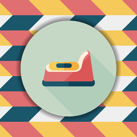 vasino: vasino icona piatto con una lunga ombra, eps10