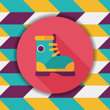 female soles: Boot flat icon with long shadow Illustration