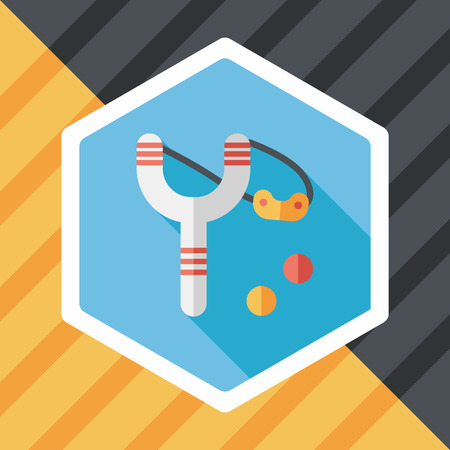 slingshot: slingshot flat icon with long shadow