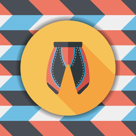 cycling shorts: cycling shorts flat icon with long shadow,esp10 Illustration