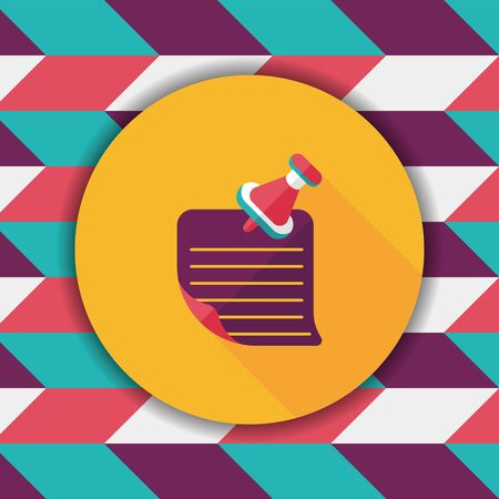 paper note: note paper flat icon with long shadow Illustration