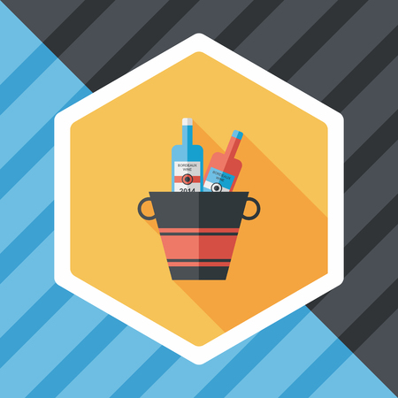 glacial: Ice bottle flat icon with long shadow Illustration