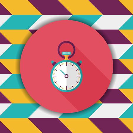 stopwatch vlakke icoon met lange schaduw
