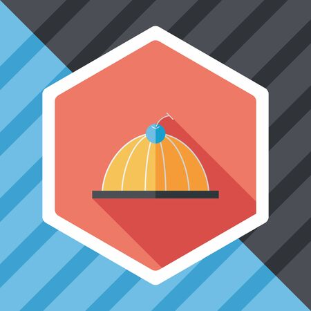 jelly: sweet jelly flat icon with long shadow