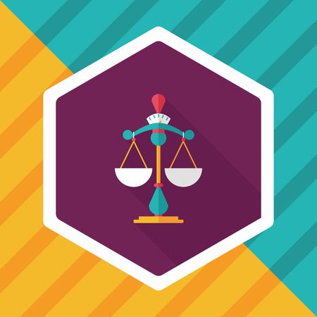 fairness: Balance flat icon with long shadow