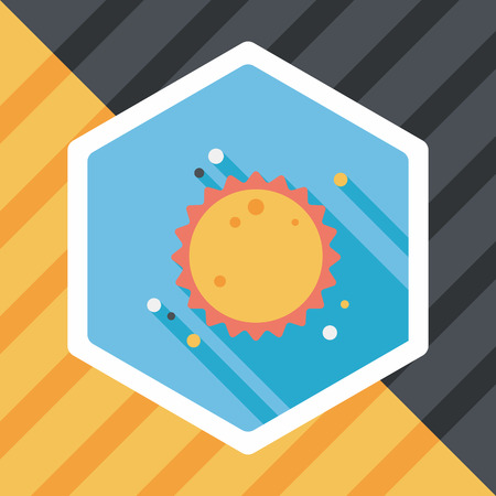 suns: Space sun flat icon with long shadow,eps10 Illustration