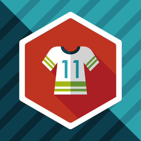 jerseys: Sports jerseys flat icon with long shadow,eps10