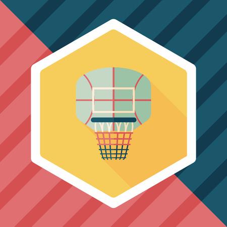 backboard: basketball backboard flat icon with long shadow,eps10